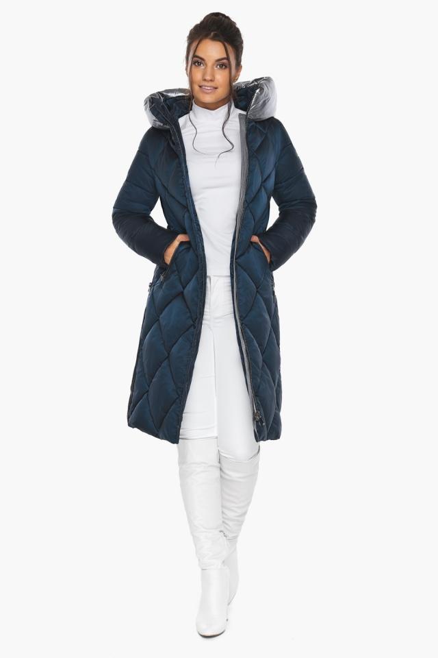 """Сапфировая куртка зимняя женская с внутренним карманом модель 46510 Braggart """"Angel's Fluff"""" фото 3"""