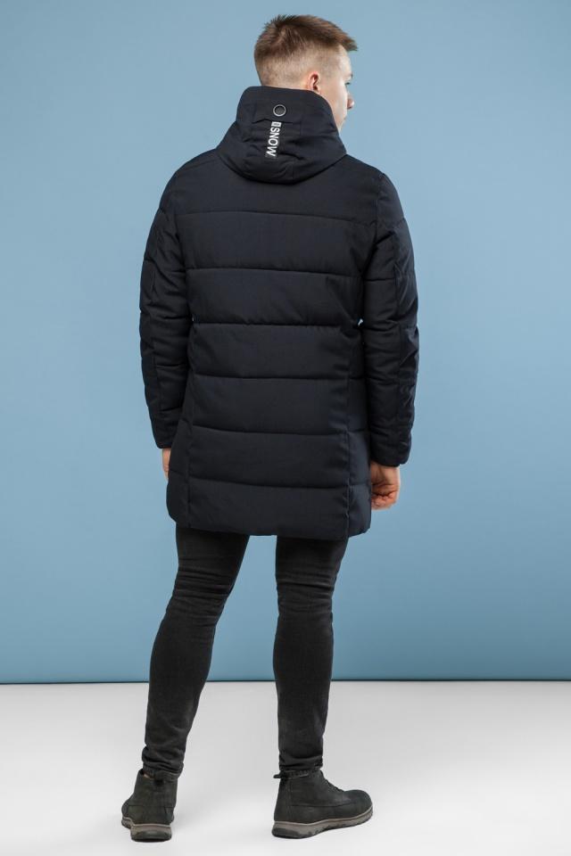 Куртка удобная мужская зимняя черная модель 6003