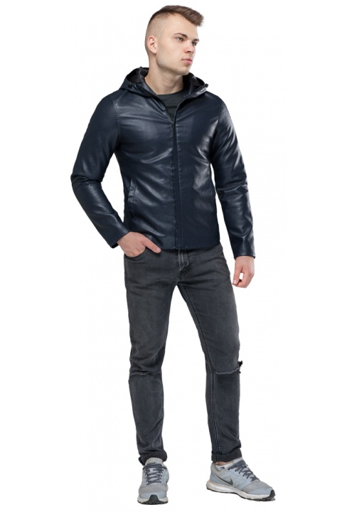 """Стильная куртка на осень для мальчика тёмно-синяя модель 15353 Braggart """"Youth"""" фото 1"""