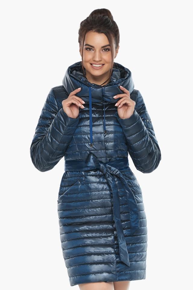 """Брендовая женская куртка осенне-весенняя цвета ниагара модель 66870 Braggart """"Angel's Fluff"""" фото 4"""