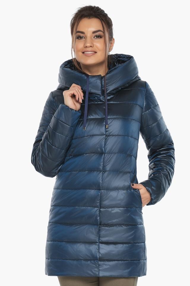 """Куртка комфортная осенне-весенняя женская цвет ниагара модель 65085 Braggart """"Angel's Fluff"""" фото 3"""