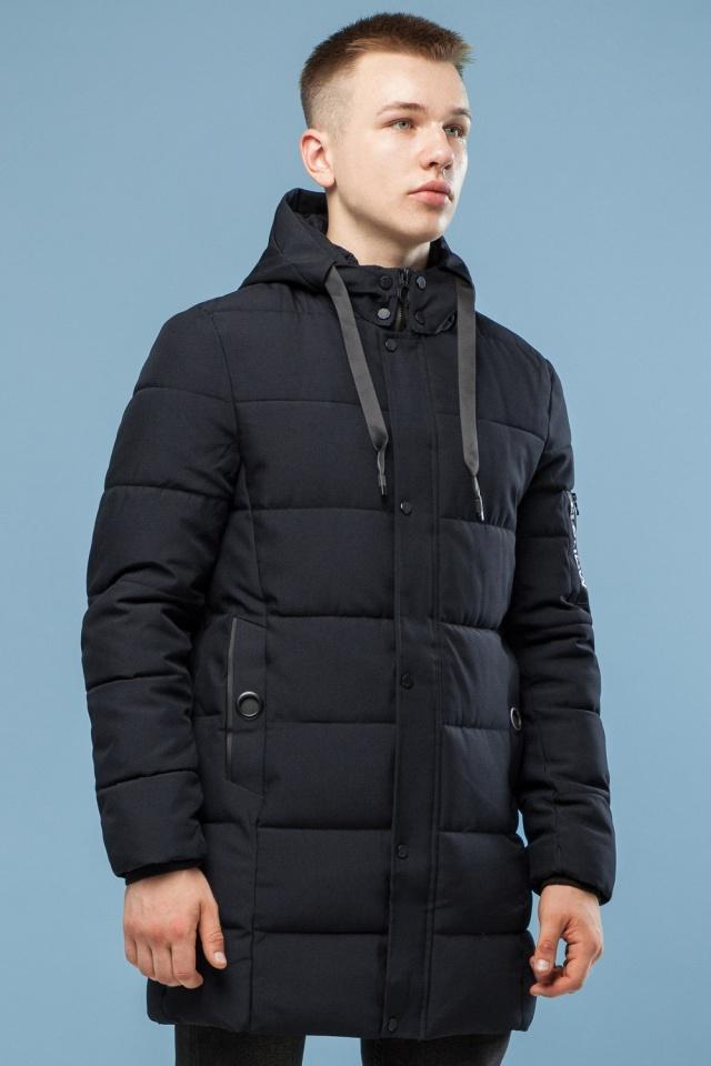 Куртка удобная мужская зимняя черная модель 6003 Kiro Tokao – Ajento фото 4