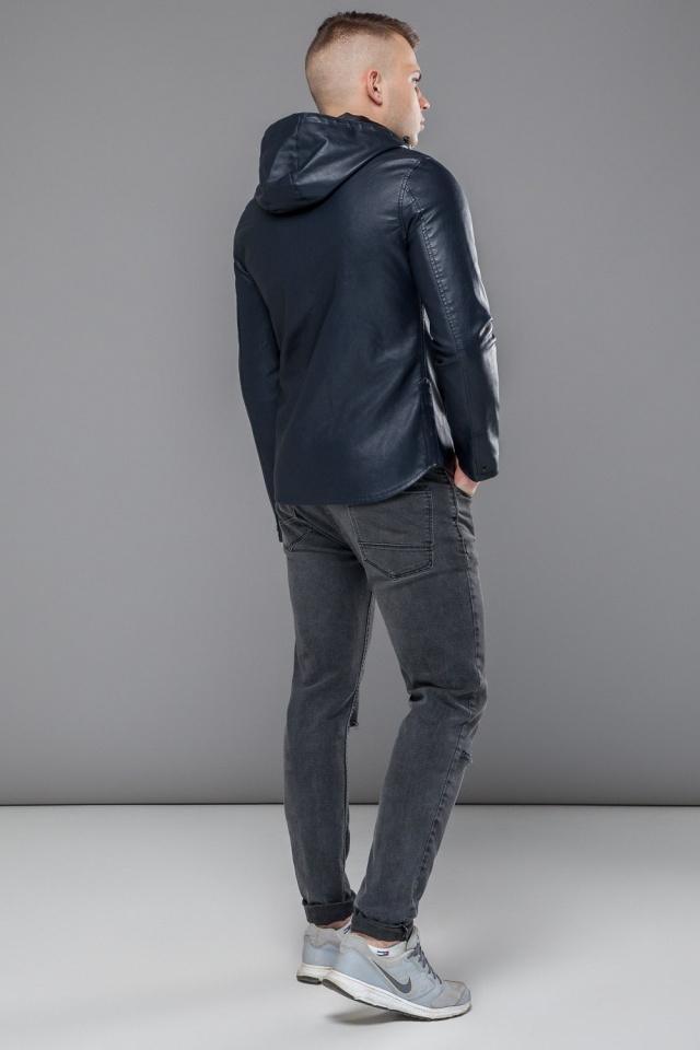 """Стильна куртка на осінь для хлопчика темно-синя модель 15353 Braggart """"Youth"""" фото 5"""