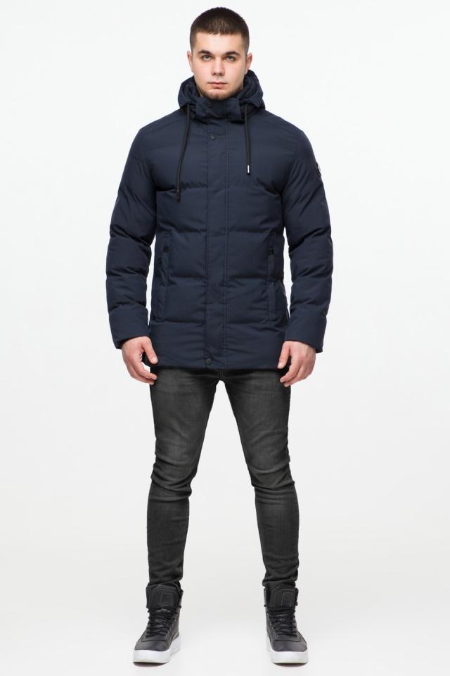 """Куртка мужская с капюшоном синяя зимняя модель 25280 Braggart """"Youth"""" фото 2"""
