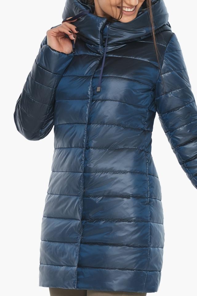 """Куртка комфортная осенне-весенняя женская цвет ниагара модель 65085 Braggart """"Angel's Fluff"""" фото 7"""
