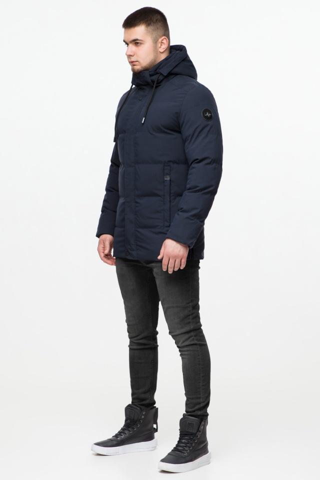 """Куртка мужская с капюшоном синяя зимняя модель 25280 Braggart """"Youth"""" фото 4"""