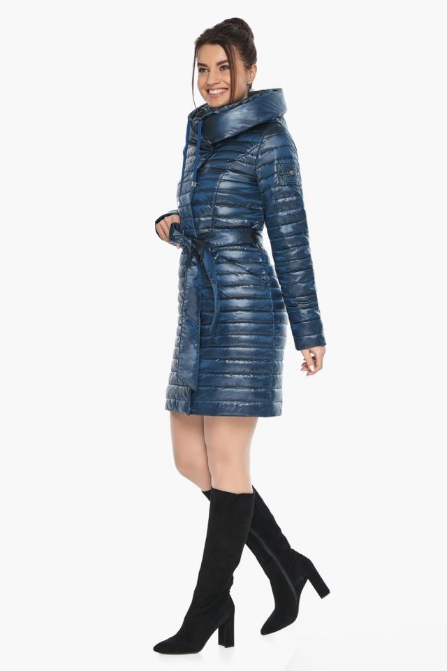 """Брендовая женская куртка осенне-весенняя цвета ниагара модель 66870 Braggart """"Angel's Fluff"""" фото 3"""