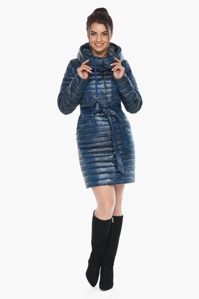 """Брендовая женская куртка осенне-весенняя цвета ниагара модель 66870 Braggart """"Angel's Fluff"""" фото 2"""