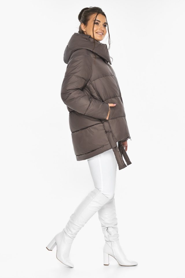 """Оригинальная куртка женская цвет капучино модель 43070 Braggart """"Angel's Fluff"""" фото 7"""