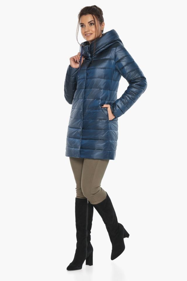 """Куртка комфортная осенне-весенняя женская цвет ниагара модель 65085 Braggart """"Angel's Fluff"""" фото 4"""