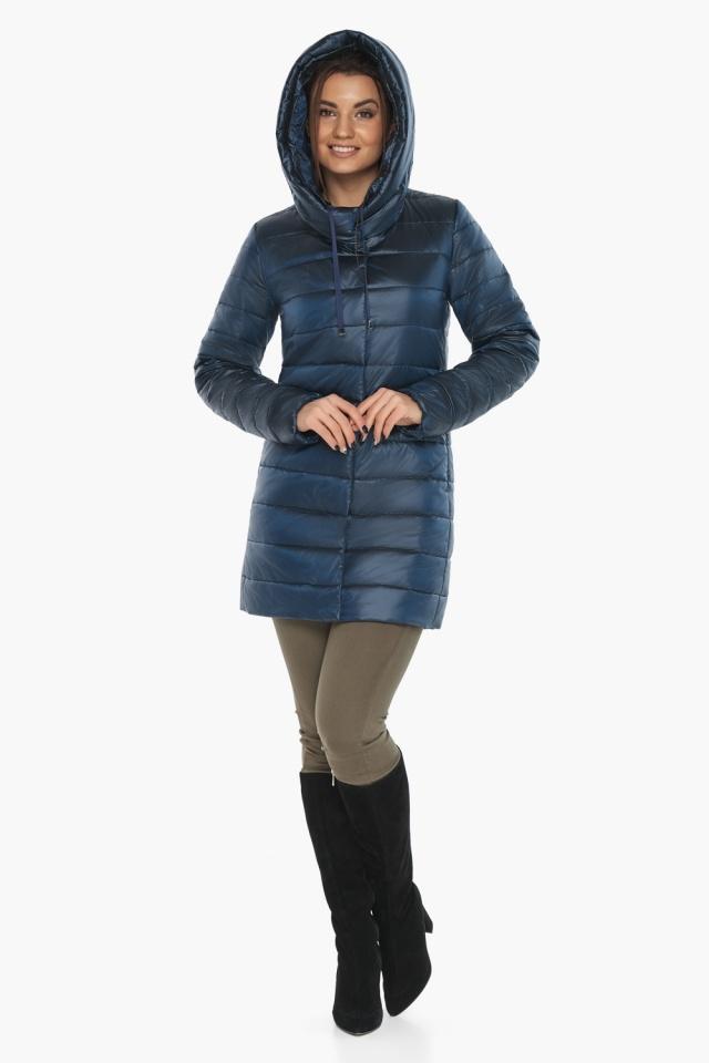 """Куртка комфортная осенне-весенняя женская цвет ниагара модель 65085 Braggart """"Angel's Fluff"""" фото 2"""