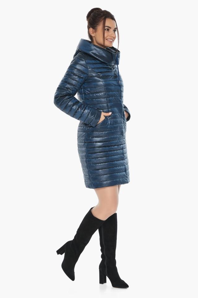 """Брендовая женская куртка осенне-весенняя цвета ниагара модель 66870 Braggart """"Angel's Fluff"""" фото 5"""