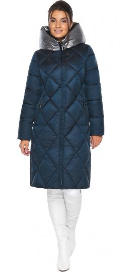 """Сапфировая куртка зимняя женская с внутренним карманом модель 46510 Braggart """"Angel's Fluff"""" фото 1"""