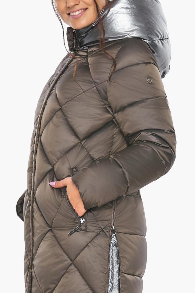 """Куртка капучиновая женская оригинальная зимняя модель 46510 Braggart """"Angel's Fluff"""" фото 12"""