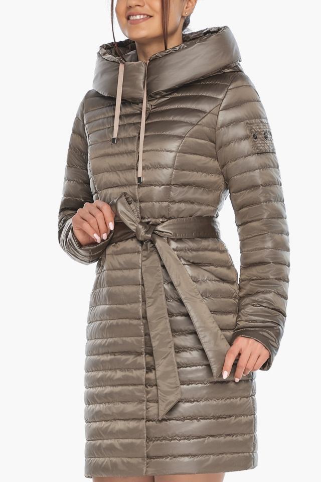 """Капучиновая осенне-весенняя куртка с поясом женская модель 66870 Braggart """"Angel's Fluff"""" фото 8"""