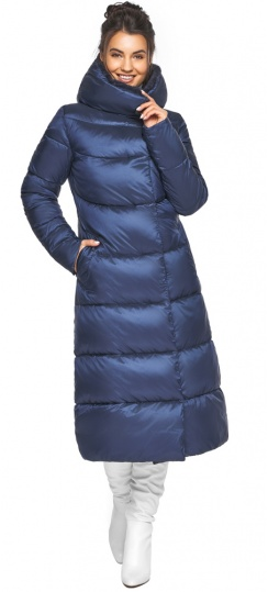 """Теплая женская куртка цвет синий бархат модель 45085 Braggart """"Angel's Fluff"""" фото 1"""