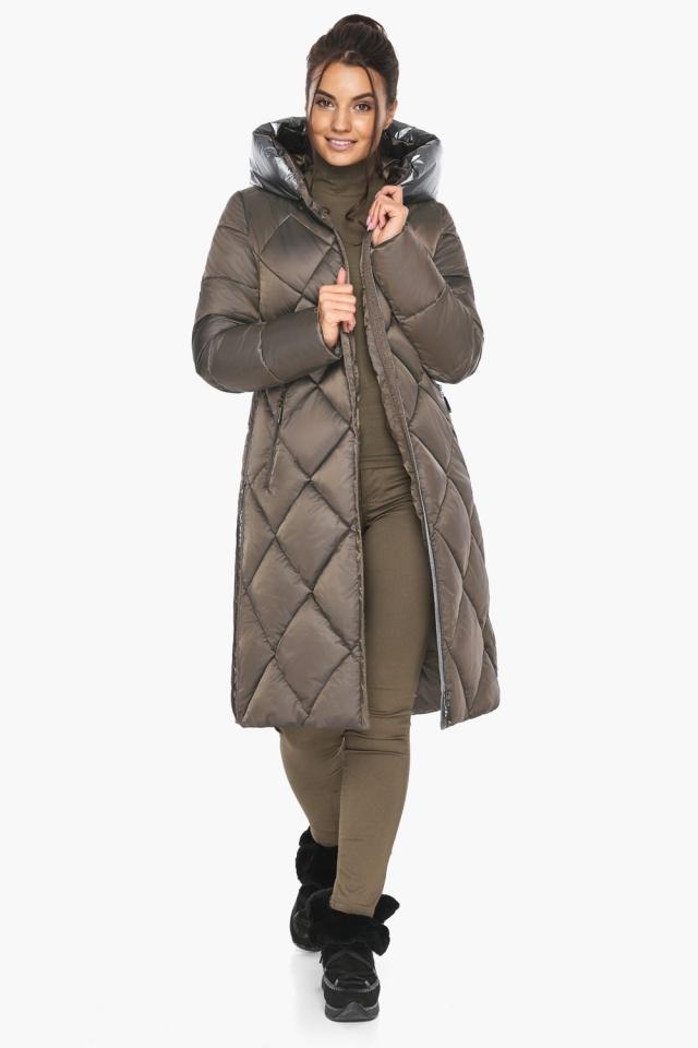 """Куртка капучиновая женская оригинальная зимняя модель 46510 Braggart """"Angel's Fluff"""" фото 6"""