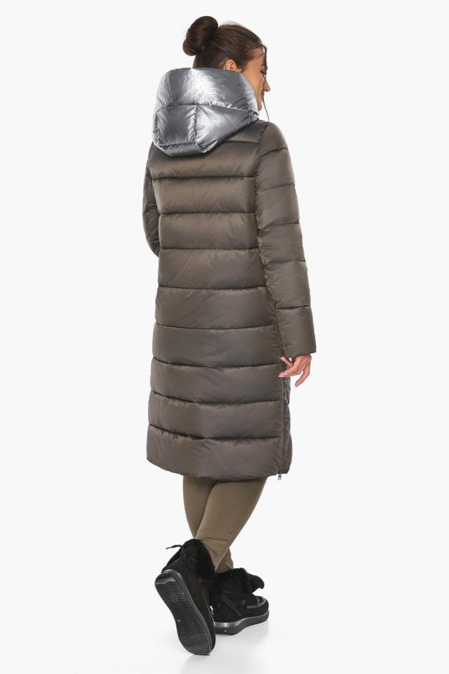 """Куртка капучиновая женская оригинальная зимняя модель 46510 Braggart """"Angel's Fluff"""" фото 11"""