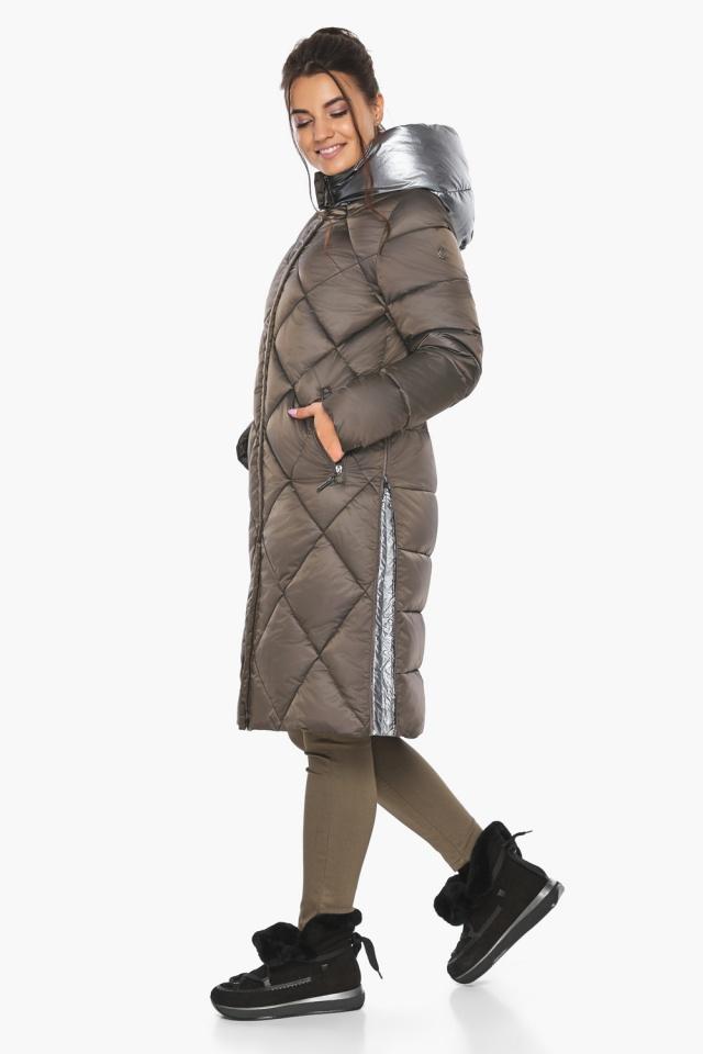 """Куртка капучиновая женская оригинальная зимняя модель 46510 Braggart """"Angel's Fluff"""" фото 9"""