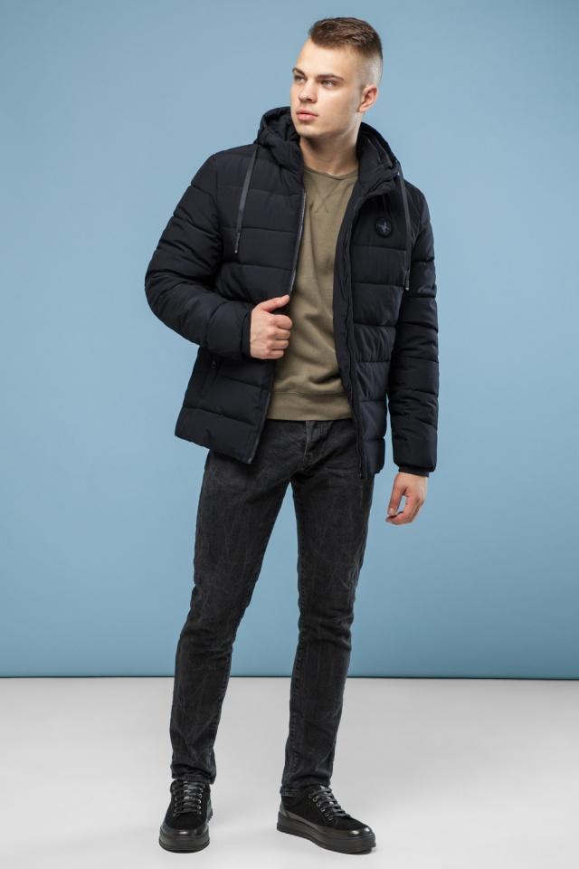 Черная фирменная подростковая зимняя куртка модель 6015 Kiro Tokao фото 4