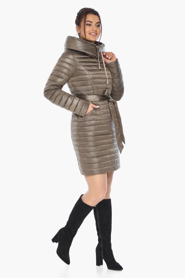 """Капучиновая осенне-весенняя куртка с поясом женская модель 66870 Braggart """"Angel's Fluff"""" фото 5"""