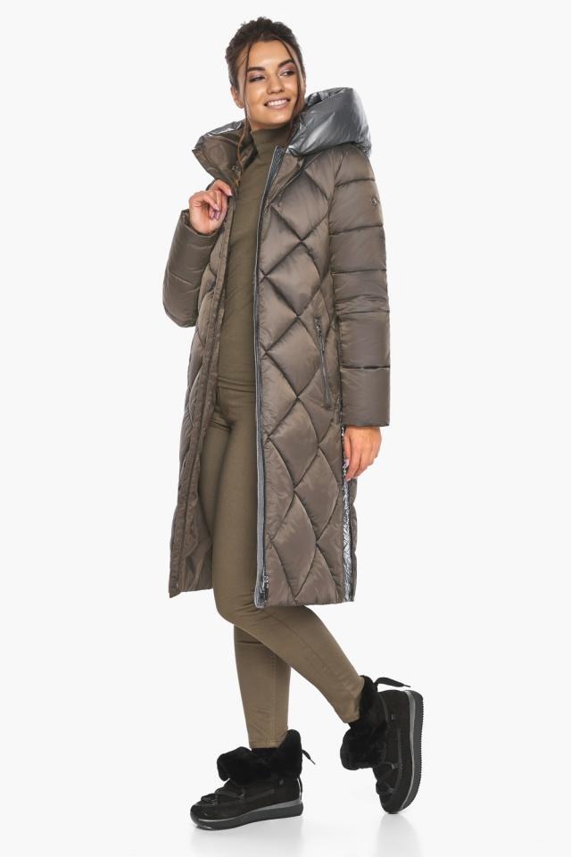 """Куртка капучиновая женская оригинальная зимняя модель 46510 Braggart """"Angel's Fluff"""" фото 4"""