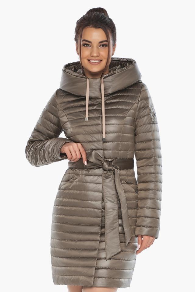 """Капучиновая осенне-весенняя куртка с поясом женская модель 66870 Braggart """"Angel's Fluff"""" фото 4"""