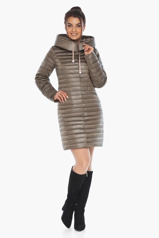 """Капучиновая осенне-весенняя куртка с поясом женская модель 66870 Braggart """"Angel's Fluff"""" фото 3"""