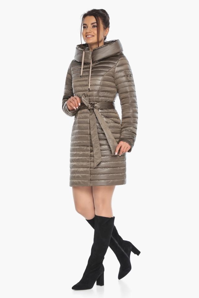 """Капучиновая осенне-весенняя куртка с поясом женская модель 66870 Braggart """"Angel's Fluff"""" фото 6"""