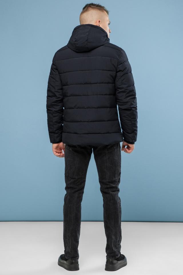 Черная фирменная подростковая зимняя куртка модель 6015 Kiro Tokao фото 5