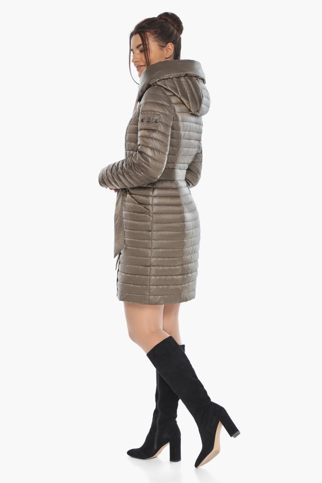 """Капучиновая осенне-весенняя куртка с поясом женская модель 66870 Braggart """"Angel's Fluff"""" фото 7"""