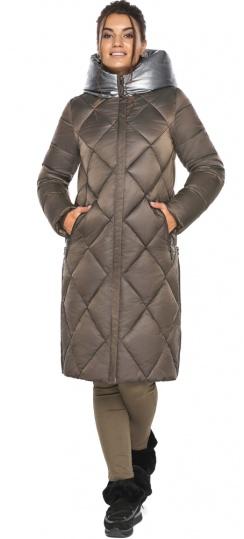 """Куртка капучиновая женская оригинальная зимняя модель 46510 Braggart """"Angel's Fluff"""" фото 1"""
