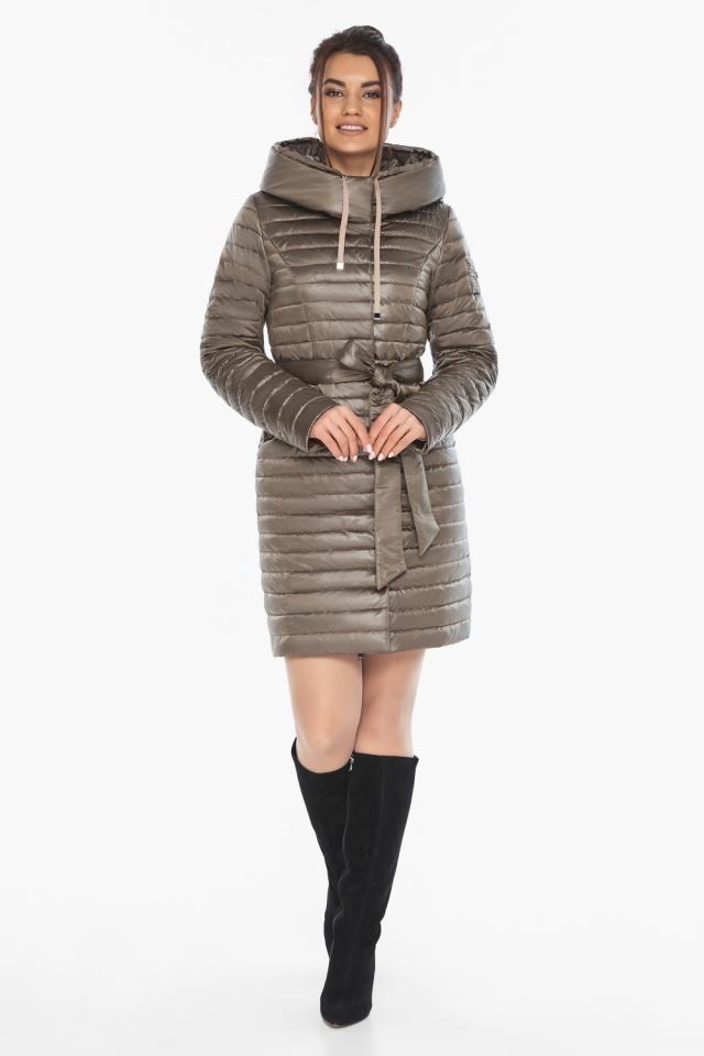 """Капучиновая осенне-весенняя куртка с поясом женская модель 66870 Braggart """"Angel's Fluff"""" фото 2"""