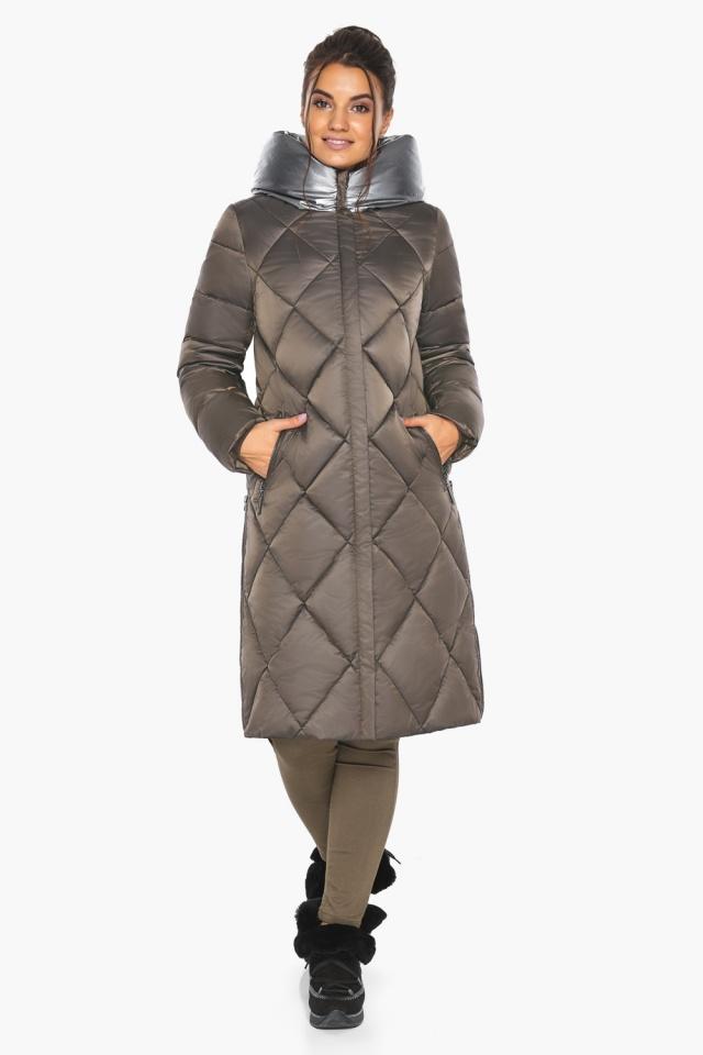 """Куртка капучиновая женская оригинальная зимняя модель 46510 Braggart """"Angel's Fluff"""" фото 7"""