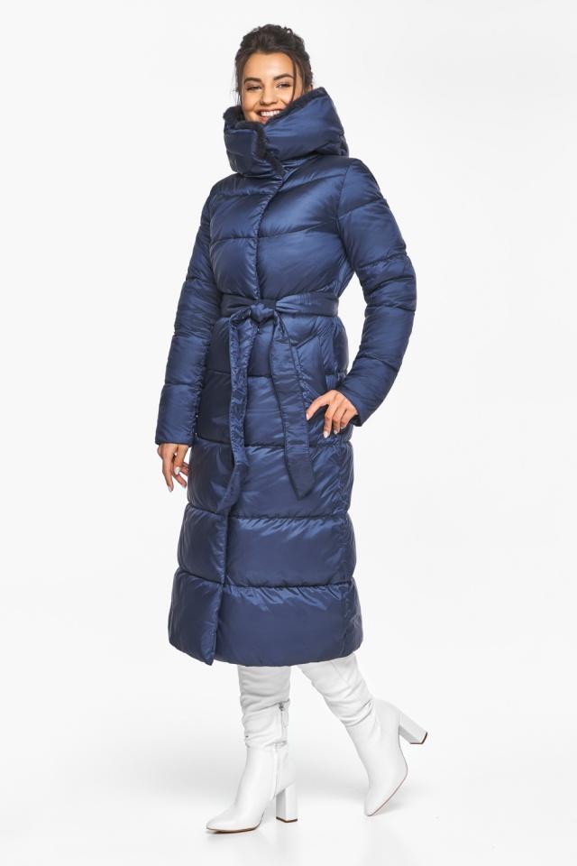 """Теплая женская куртка цвет синий бархат модель 45085 Braggart """"Angel's Fluff"""" фото 5"""