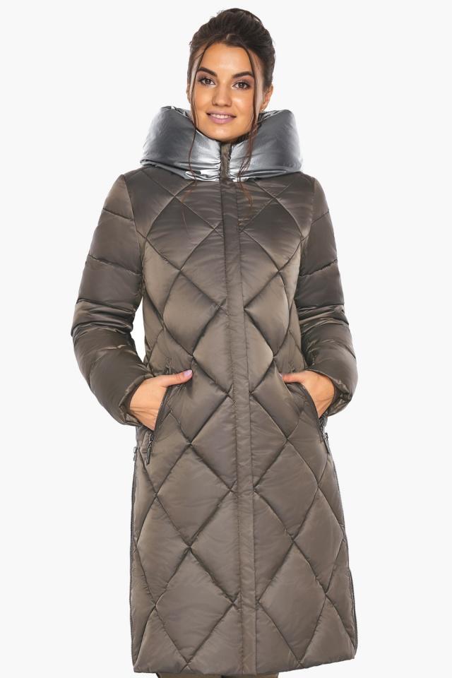 """Куртка капучиновая женская оригинальная зимняя модель 46510 Braggart """"Angel's Fluff"""" фото 5"""