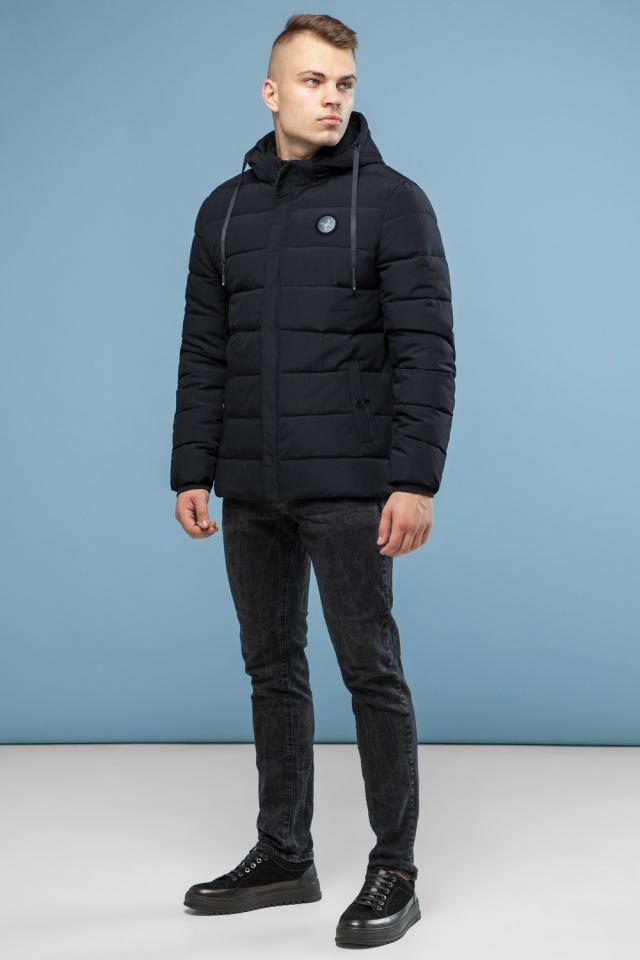 Черная фирменная подростковая зимняя куртка модель 6015 Kiro Tokao фото 2