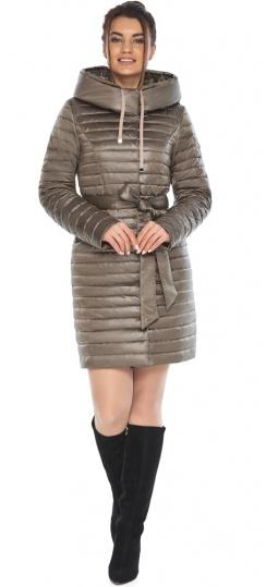 """Капучиновая осенне-весенняя куртка с поясом женская модель 66870 Braggart """"Angel's Fluff"""" фото 1"""