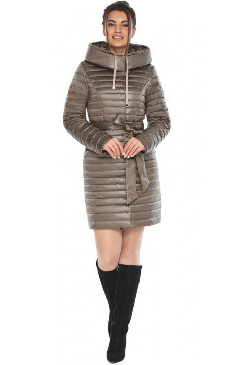 """Капучинова осінньо-весняна куртка з поясом жіноча модель 66870 Braggart """"Angel's Fluff"""" фото 1"""