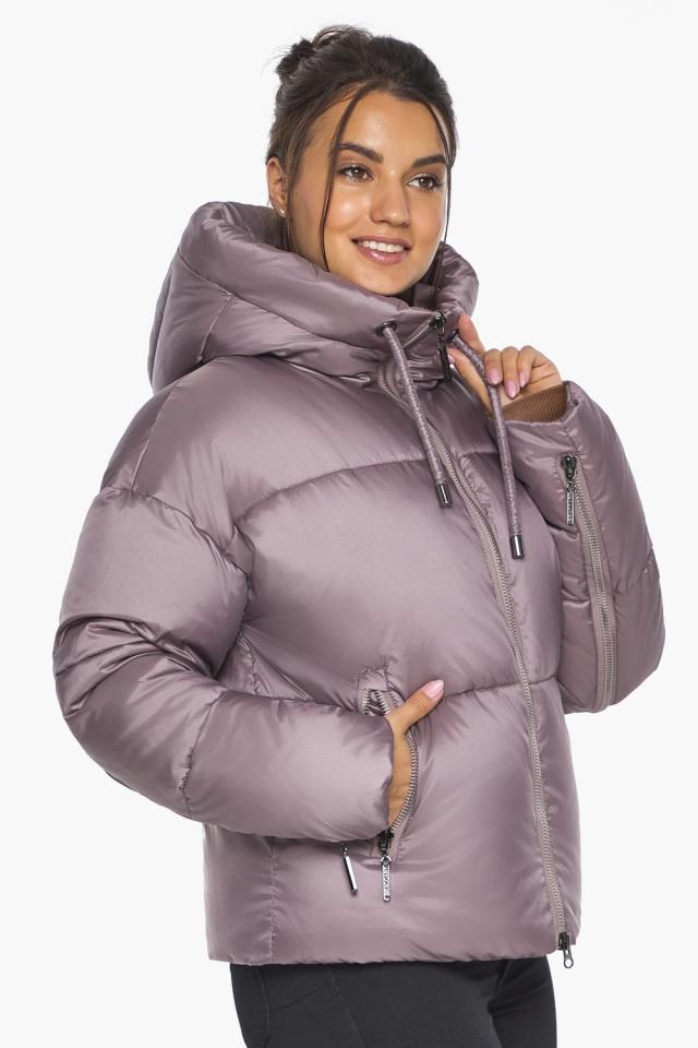"""Пудровая куртка зимняя женская короткая модель 46280 Braggart """"Angel's Fluff"""" фото 6"""