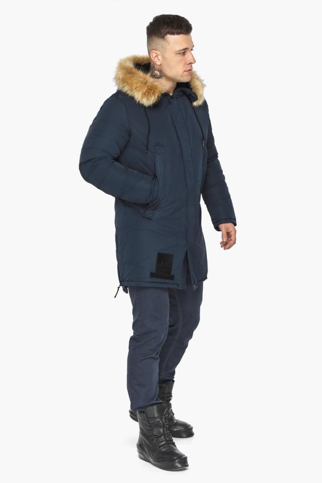 """Куртка – воздуховик стильный мужской зимний цвет тёмно-синий модель 30551 Braggart """"Angel's Fluff Man"""" фото 4"""