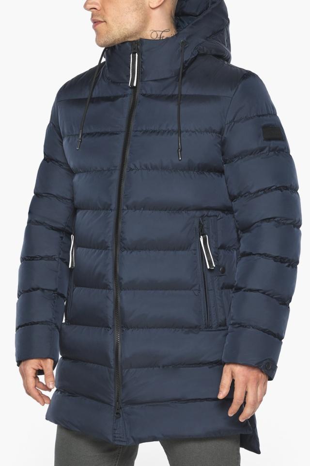 "Модная тёмно-синяя мужская куртка на зиму модель 49008 Braggart ""Aggressive"" фото 9"