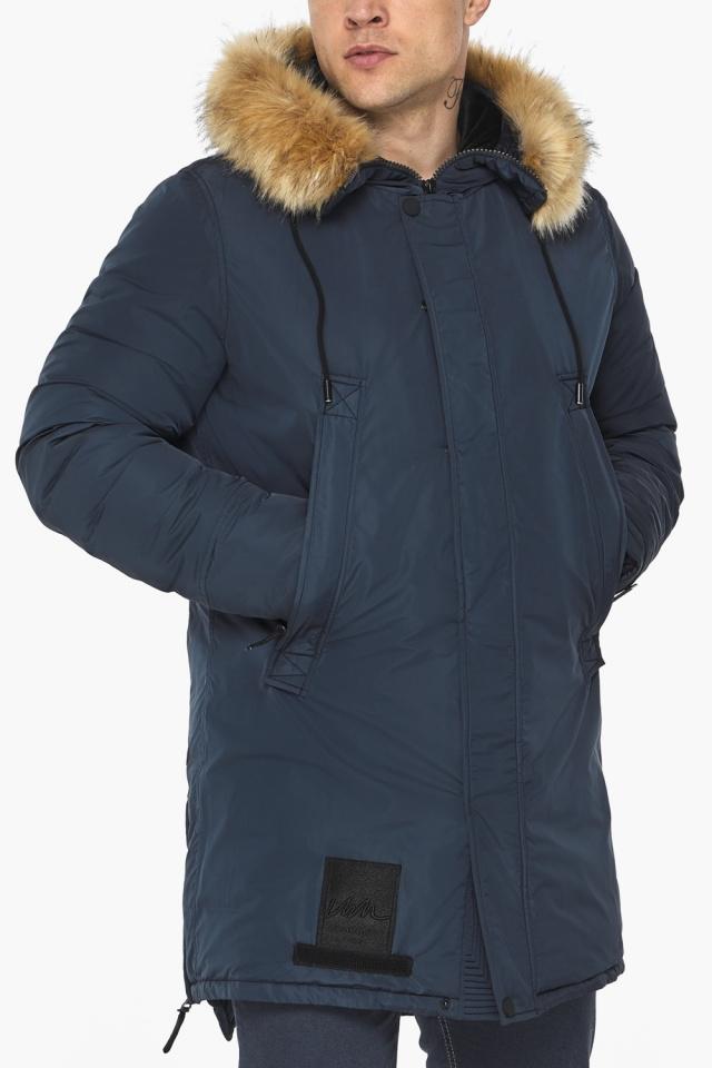 """Куртка – воздуховик стильный мужской зимний цвет тёмно-синий модель 30551 Braggart """"Angel's Fluff Man"""" фото 10"""