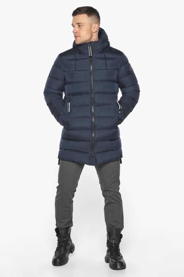 "Модная тёмно-синяя мужская куртка на зиму модель 49008 Braggart ""Aggressive"" фото 2"