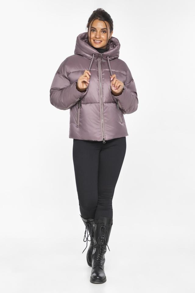 """Пудровая куртка зимняя женская короткая модель 46280 Braggart """"Angel's Fluff"""" фото 3"""