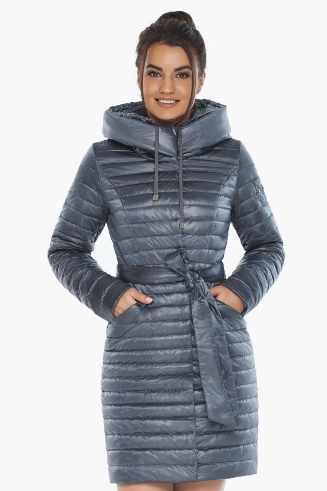 """Женская куртка с капюшоном осенне-весенняя цвета маренго модель 66870 Braggart """"Angel's Fluff"""" фото 3"""