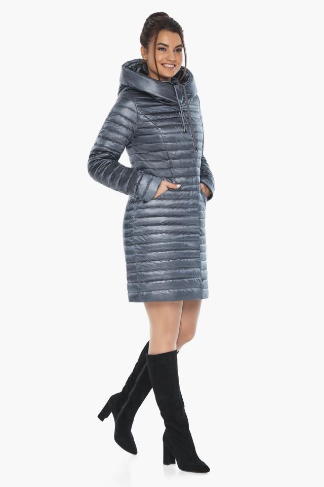 """Женская куртка с капюшоном осенне-весенняя цвета маренго модель 66870 Braggart """"Angel's Fluff"""" фото 4"""