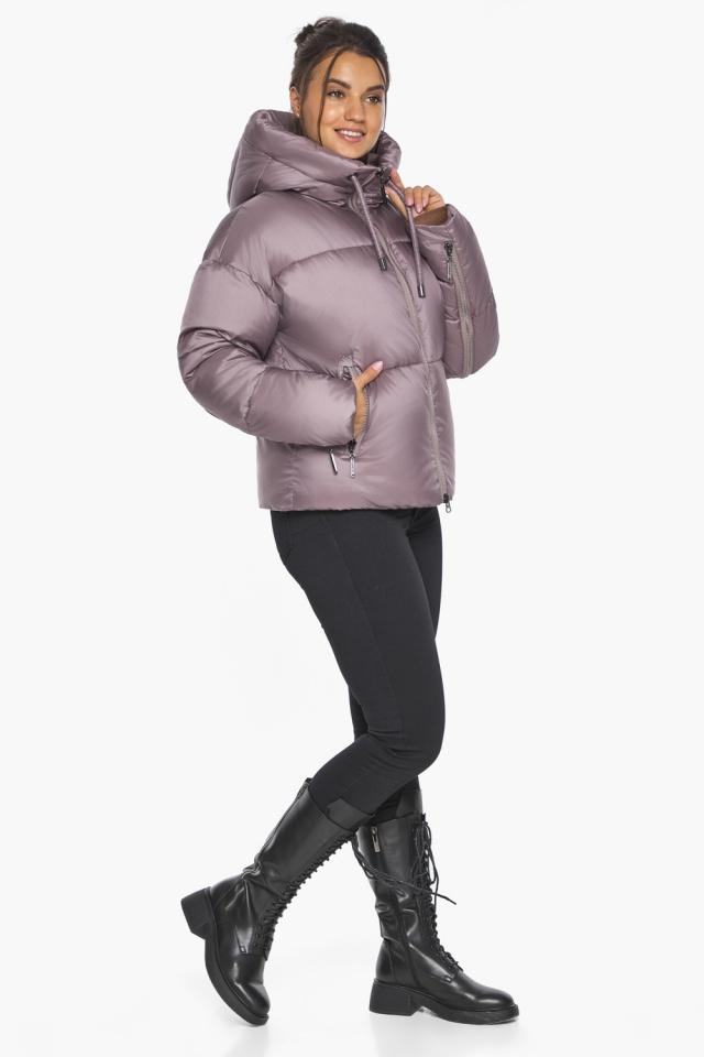 """Пудровая куртка зимняя женская короткая модель 46280 Braggart """"Angel's Fluff"""" фото 2"""