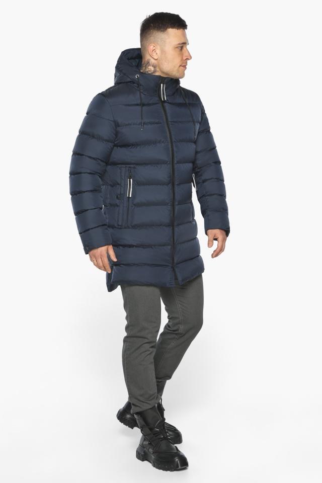 "Модная тёмно-синяя мужская куртка на зиму модель 49008 Braggart ""Aggressive"" фото 4"