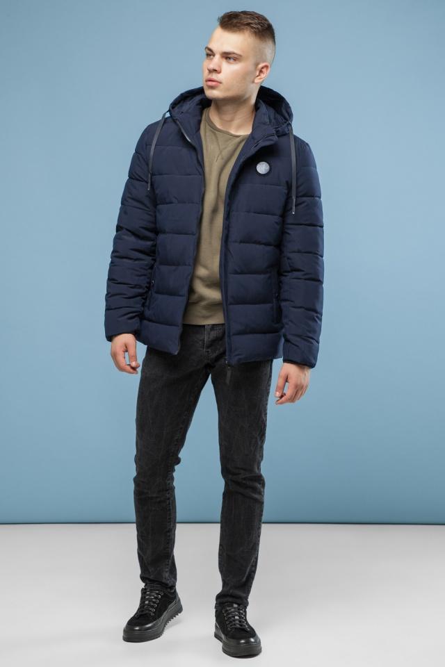 Темно-синя куртка для підлітків зносостійка зимова модель 6015 Kiro Tokao фото 4
